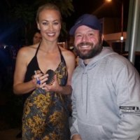 Yvonne Strahovski Emmy Party signing autographs 9