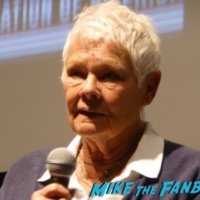 Judi Dench meeting fans signing autographs 1
