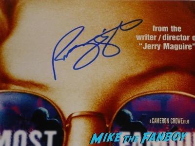 Patrick Fugit signed autograph almost famous poster psa
