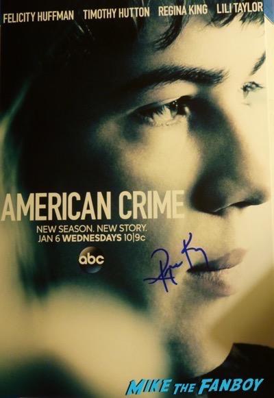 regina king signed american crime poster psa