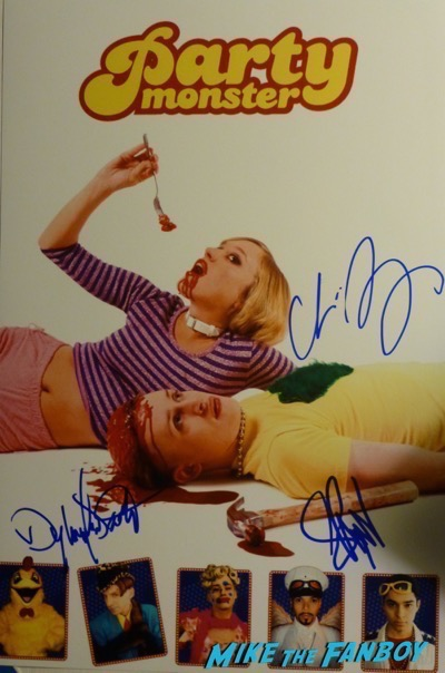 Seth Green signed party monster poster psa