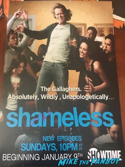 William H. Macy signed autograph shameless poster