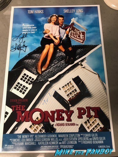 Tom Hanks Shelley Long signed autograph The Money Pit Poster PSA