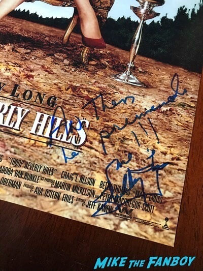 Shelley Long signed autograph Troop Beverly Hills poster psa