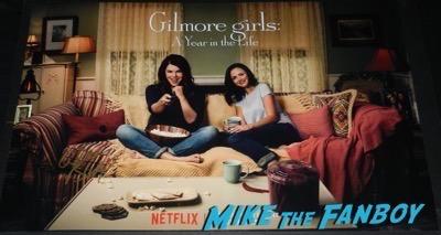 Alexis Bledel signed gilmore girls poster