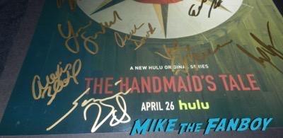 The Handmaid's Tale signed autograph poster cast psa elisabeth Moss