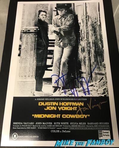 dustin hoffman jon voight signed autograph midnight cowboy poster psa