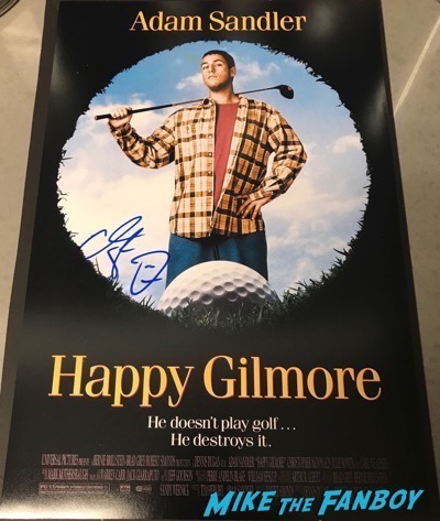 Adam Sandler Signed Autograph Happy Gilmore poster PSA