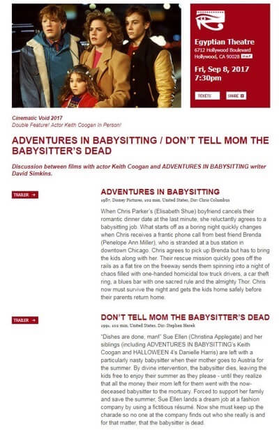 adventures in babysitting double feature