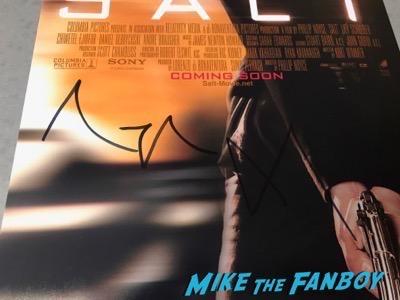 Angelina Jolie signed autograph salt poster psa