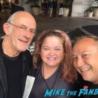 Christopher Lloyd meeting fans Back to the Future reunion1