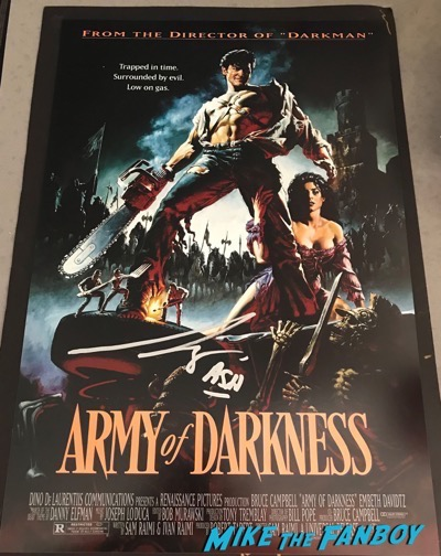 Bruce Campbell signed autograph army of darkness poster psa