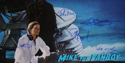 Contact cast signed autograph poster psa jodie foster