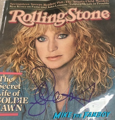 Goldie Hawn Signed Rolling Stone Magazine
