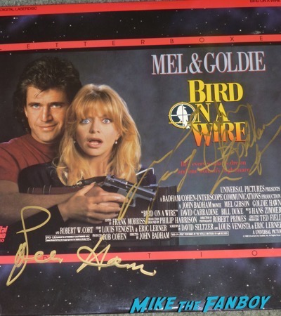 Goldie Hawn Signed Bird on a Wire poster mel gibson