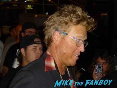 Jake Busey signing autographs premiere