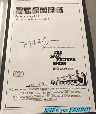 Jeff Bridges signed autograph The Last Picture Show poster
