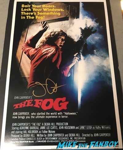 John Carpenter signed autograph The Fog poster