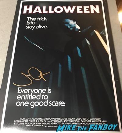 John Carpenter signed autograph Halloween Poster