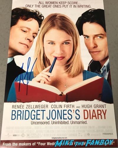 Renée Zellweger signed autograph Bridget Jones's Diary poster PSA