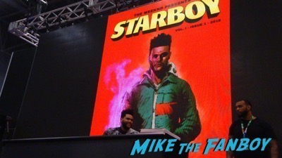 The Weeknd signing NYCC 2