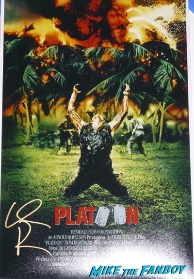 Willem Dafoe signed autograph platoon poster