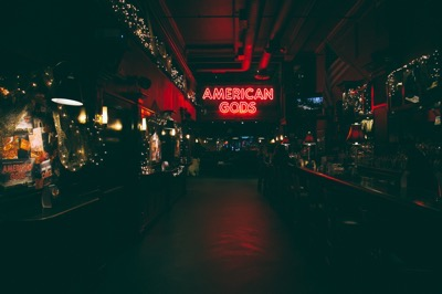American Gods party NYCC
