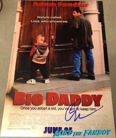 Adam Sandler Signed Autograph Big Daddy poster PSA
