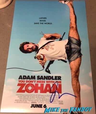 Adam Sandler Signed Autograph Don't Mess With The Zohan poster PSA