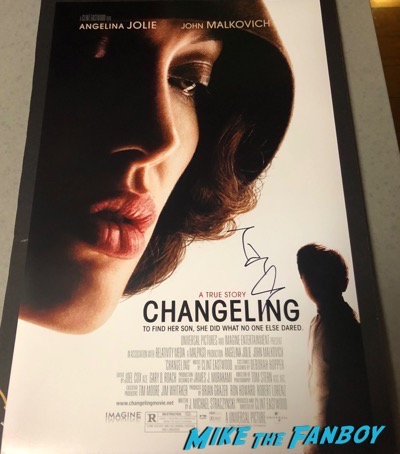 Angelina Jolie signed autograph Changeling poster psa