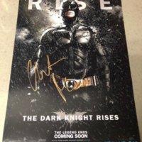Christian Bale signed autograph Dark Knight Rises poster PSA Christian Bale signed autograph Dark Knight Rises poster PSA