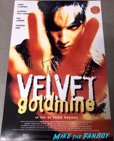 Christian Bale signed autograph Velvet Goldmine poster PSA