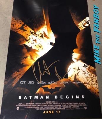 Christian Bale signed autograph Batman Begins poster PSA 4