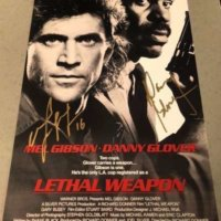Danny Glover Signed Autograph Lethal Weapon poster PSA Mel Gibson 2