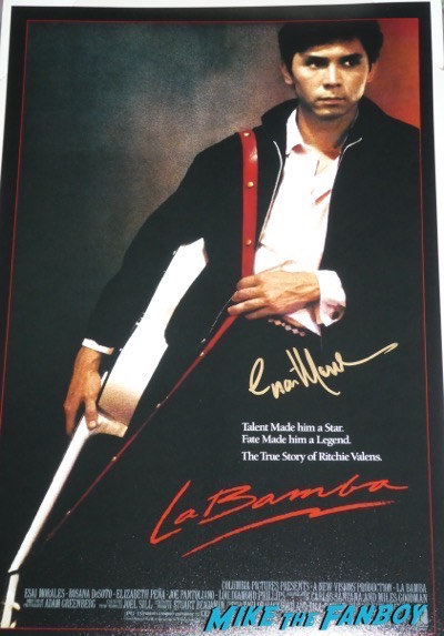 Esai Morales signed autograph La Bamba poster PSA