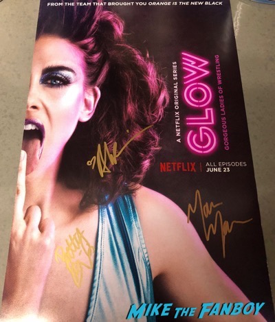 GLOW signed autograph poster allison brie marc maron Betty Gilpin