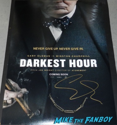 Gary Oldman signed autograph the darkest hour poster PSA