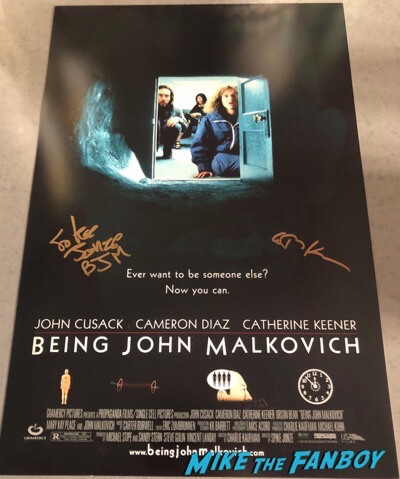Being John Malkovich signed autograph poster catherine keener spike jonze