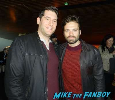 Sebastian Stan with fans selfie mike the fanboy