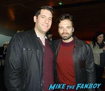 Sebastian Stan with fans selfie mike the fanboy