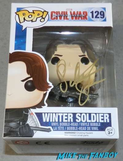 Sebastian Stan Signed Autograph Winter Soldier Pop PSA