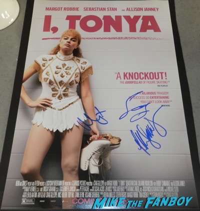 I,Tonya signed autograph poster margot robbie sebastian stan psa