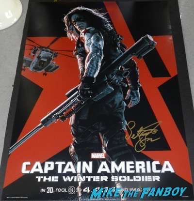 Sebastian Stan Signed Autograph Winter Soldier Poster PSA