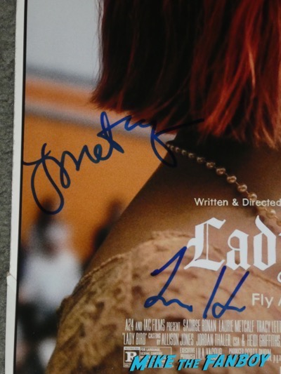 Lady Bird cast signed autograph poster Lady Bird FYC q and a Saoirse Ronan meeting fans