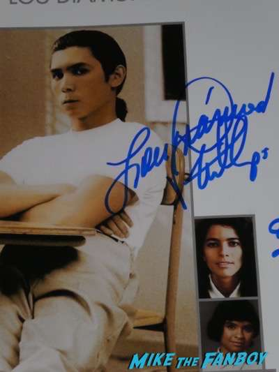 Lou Diamond Phillips signed autograph stand and deliver poster