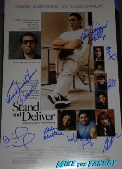 Stand and Deliver signed autograph Poster Lou Diamond Phillips edward james olmos psa Stand and Deliver signed autograph Poster Lou Diamond Phillips edward james olmos psa