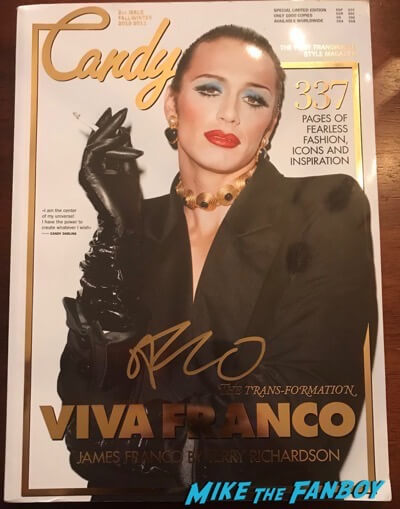 James franco signed autograph candy magazine psa