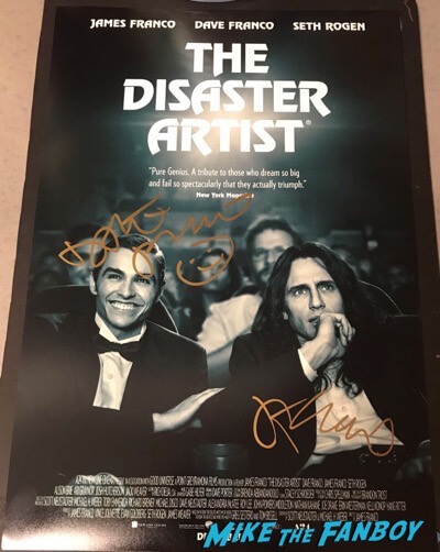 james franco dave franco signed autograph The Disaster Artist poster psa