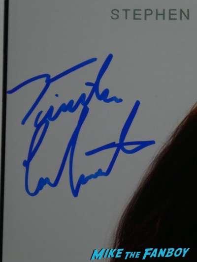 Timothée Chalamet signing autographs Lady Bird psa