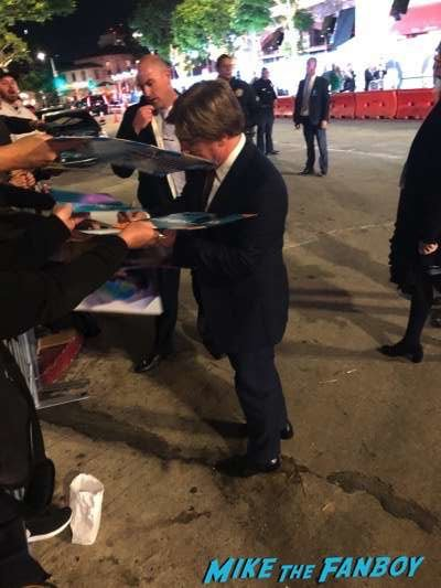 Stephen Chbosky signing autographs Wonder White Carpet Premiere 6